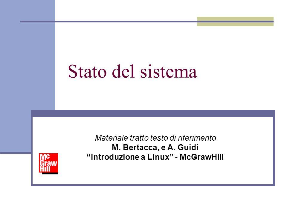 Stato del sistema Materiale tratto testo di riferimento M.