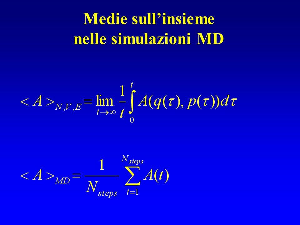 Medie sullinsieme nelle simulazioni MD