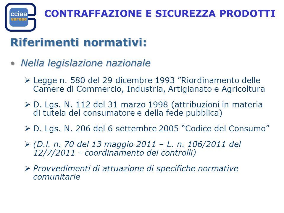 Riferimenti normativi: Nella legislazione nazionaleNella legislazione nazionale Legge n.