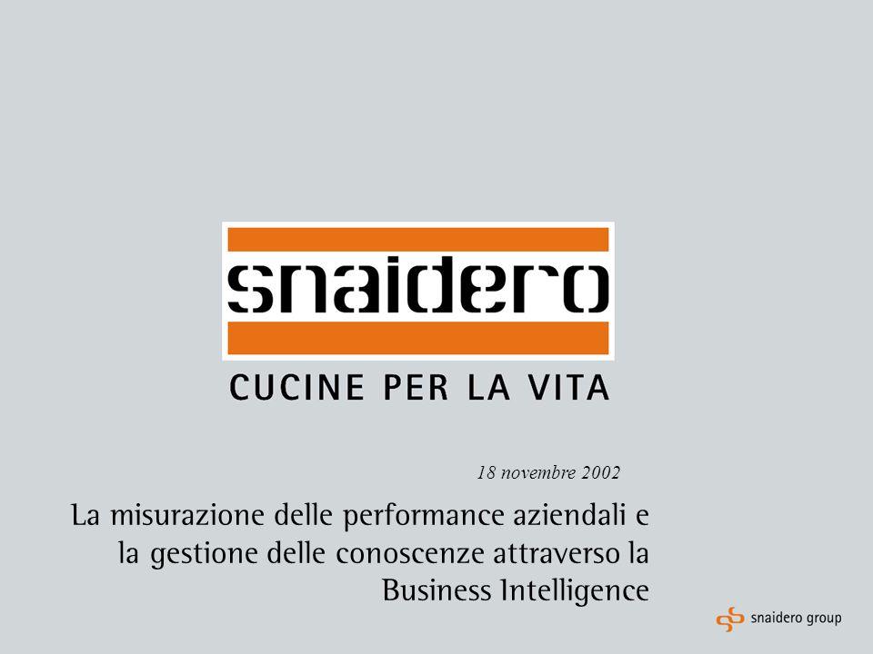 La misurazione delle performance aziendali e la gestione delle conoscenze attraverso la Business Intelligence 18 novembre 2002