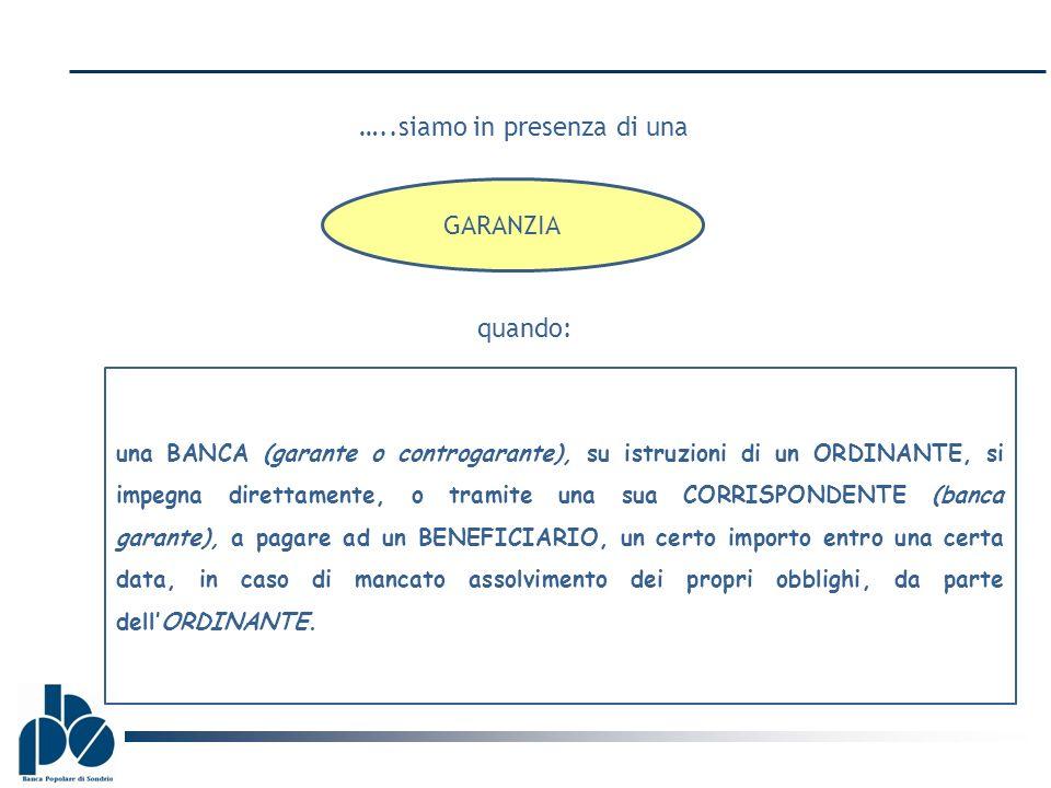 Il 24 Novembre 2009 a Bruxelles, con il voto favorevole dei comitati nazionali rappresentati, la commissione bancaria della Camera di Commercio Internazionale ha approvato le nuove norme sulle Demand Guarantees DATA ENTRATA IN VIGORE 1° LUGLIO 2010