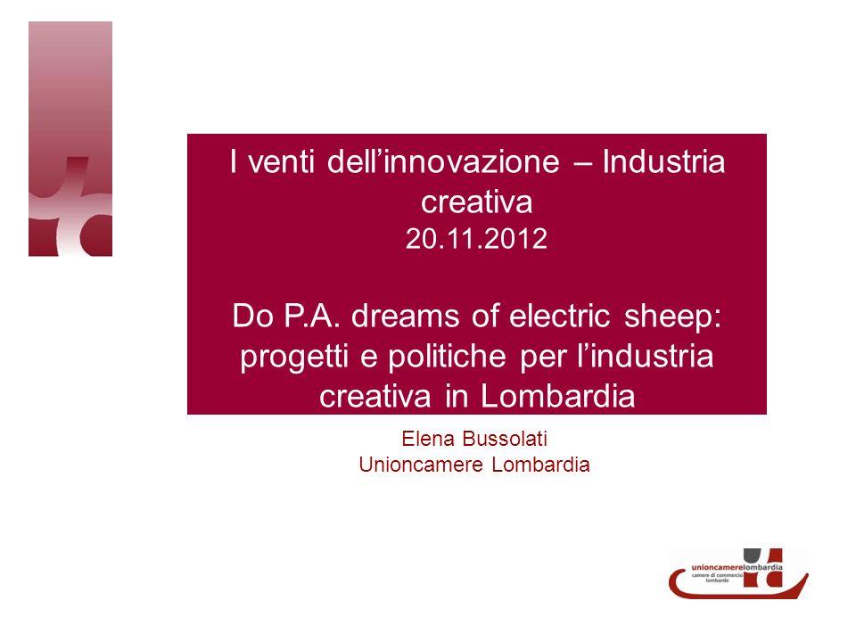 I venti dellinnovazione – Industria creativa 20.11.2012 Do P.A.