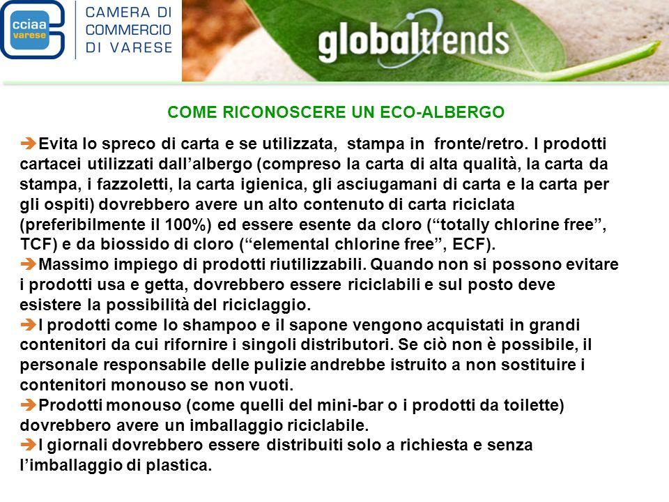 Lalbergo dovrebbe effettuare la pulizia eco-compatibile.
