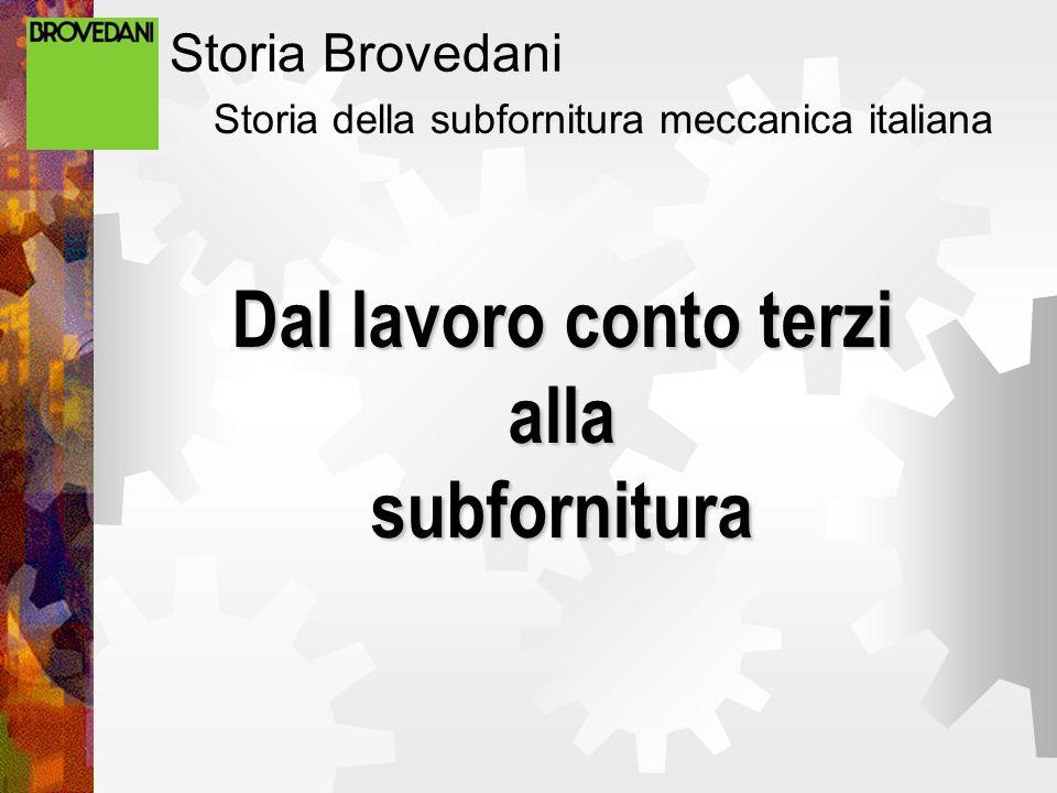 Storia Brovedani Storia della subfornitura meccanica italiana Dal lavoro conto terzi alla subfornitura