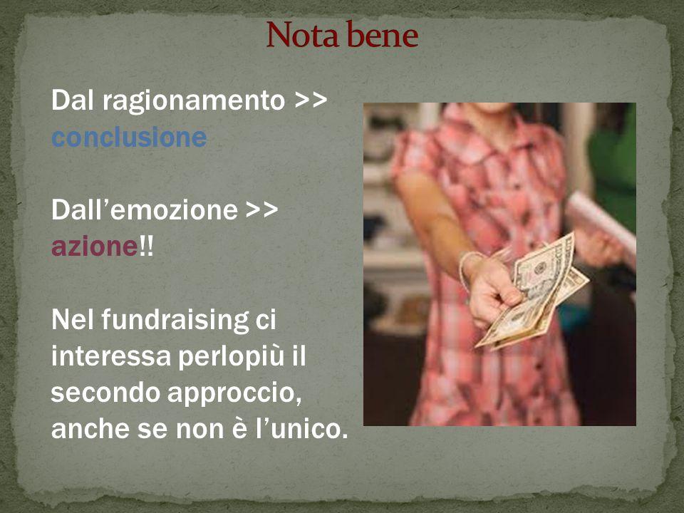 Dal ragionamento >> conclusione Dallemozione >> azione!.