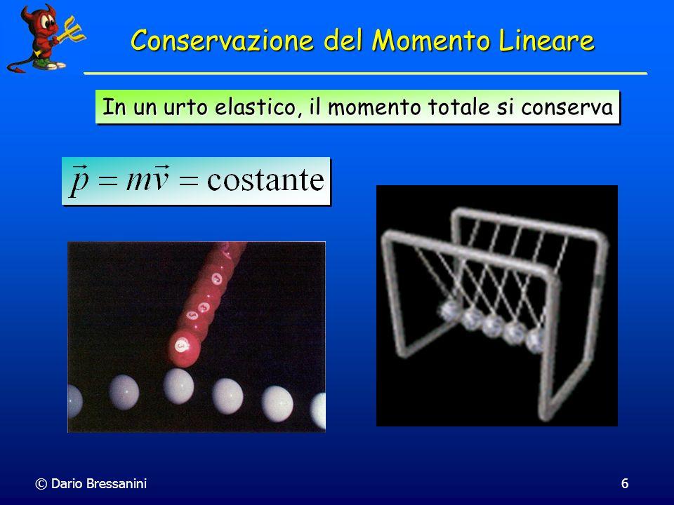 © Dario Bressanini6 Conservazione del Momento Lineare In un urto elastico, il momento totale si conserva