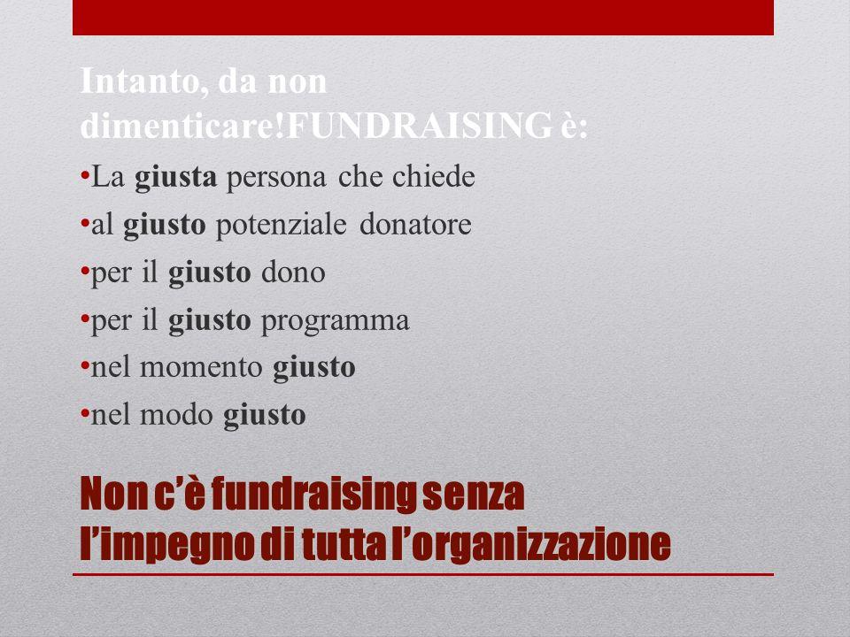 Il fundraiser non è il bancomat dellassociazione.