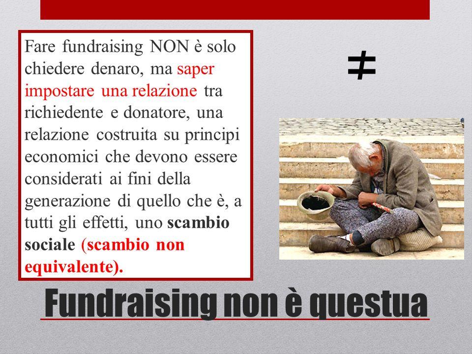 Il fundraising è relazione Le organizzazioni che ottengono di più dai propri donatori non sono quelle che hanno maggiore visibilità, ma quelle che CONOSCONO MEGLIO IL LORO DONATORE.