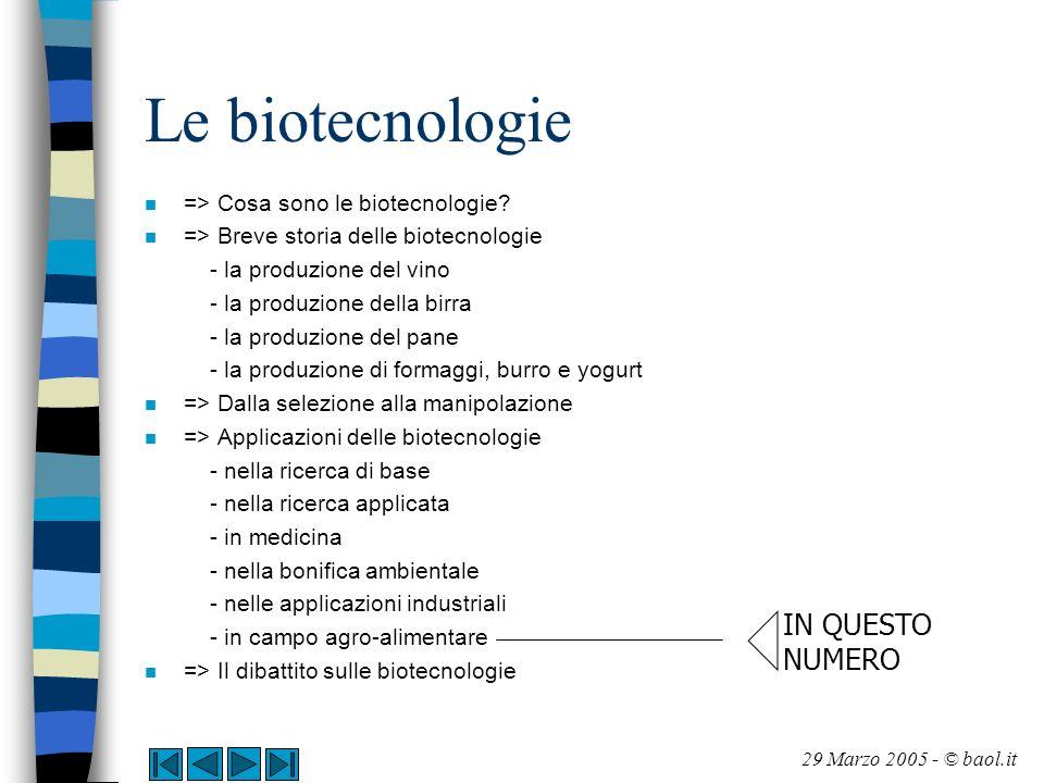 Applicazioni delle biotecnologie In campo agroalimentare (1/11) n E senz altro nel settore agro-alimentare che le biotecnologie hanno conosciuto il loro sviluppo più controverso e dibattuto.
