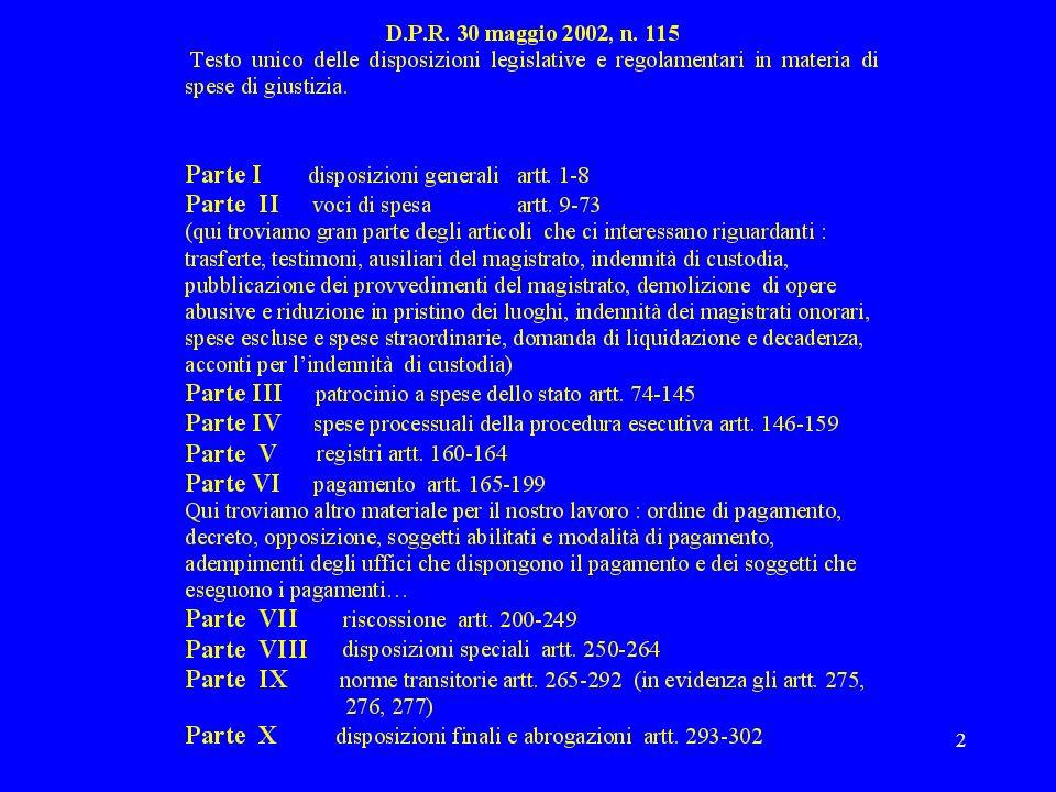 23 Decreto di pagamento emesso dal magistrato artt.168-171 T.U.
