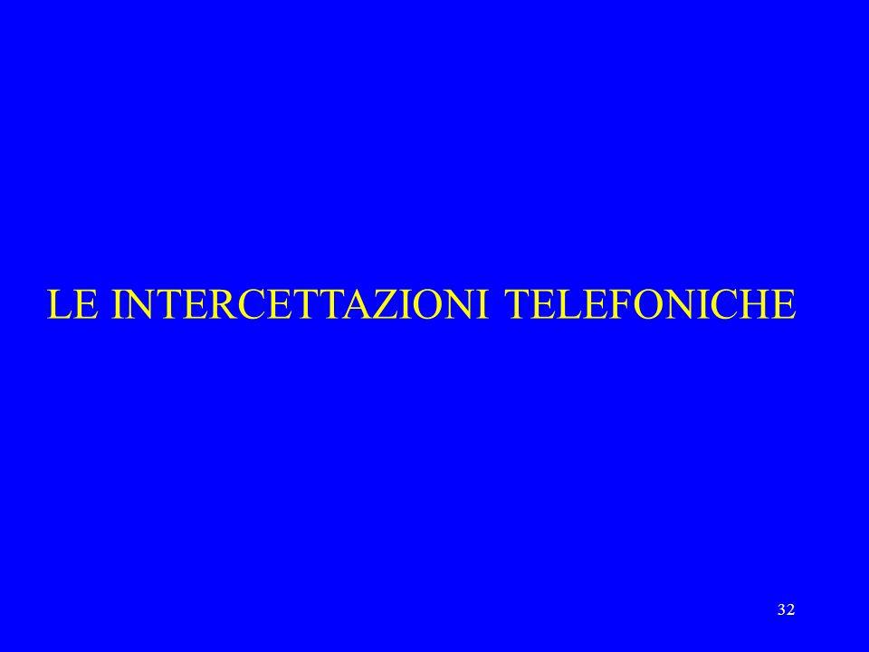 32 LE INTERCETTAZIONI TELEFONICHE
