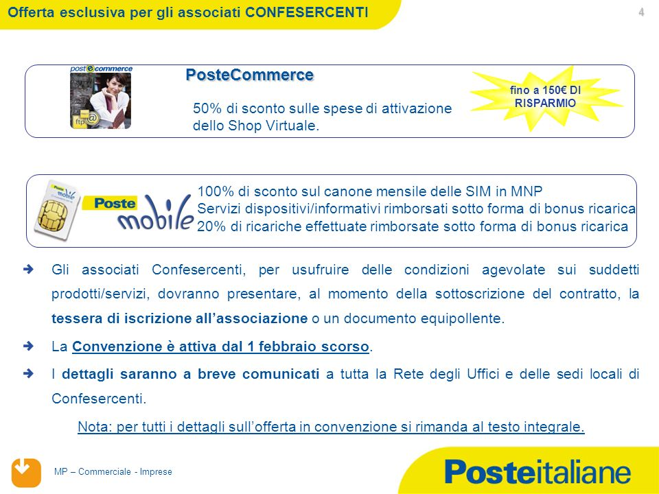 02/02/2014 MP – Commerciale - Imprese Conto InProprio POS