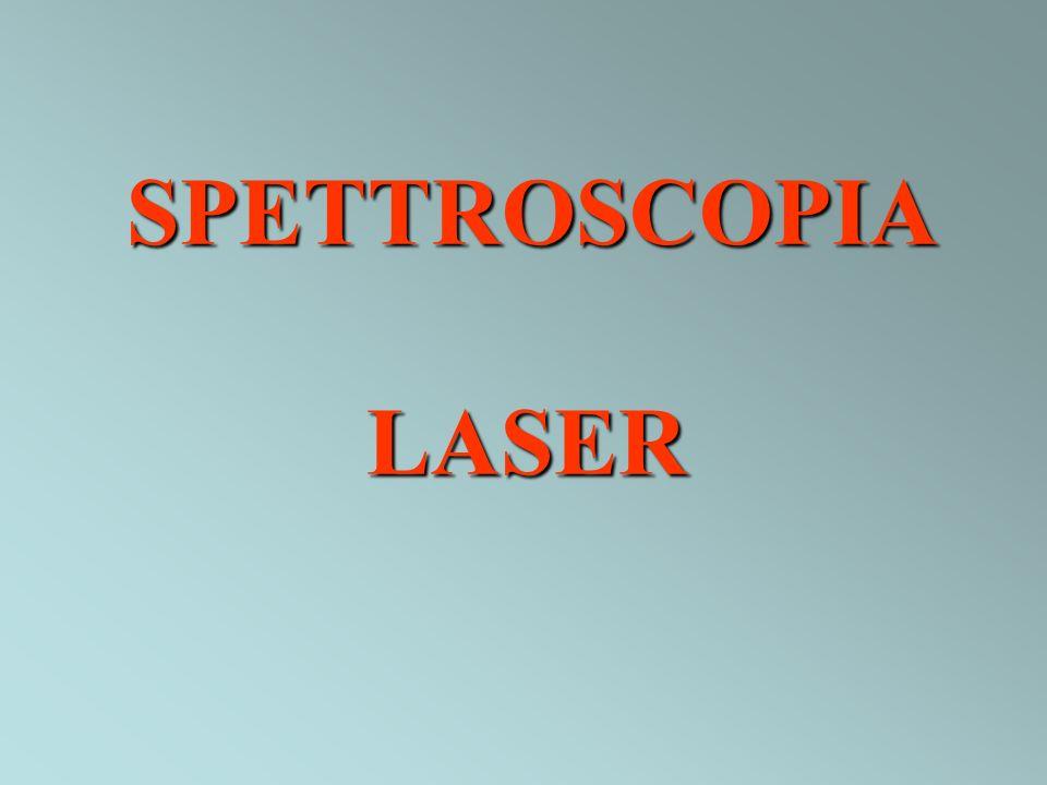 SPETTROSCOPIA DI ASSORBIMENTO Sorgenti laser a frequenza fissa Laser Stark Laser Zeeman Sorgenti laser modulabili laser a diodo laser a coloranti Ti-zaffiro (675-1100 nm) Tecniche di assorbimento specializzate