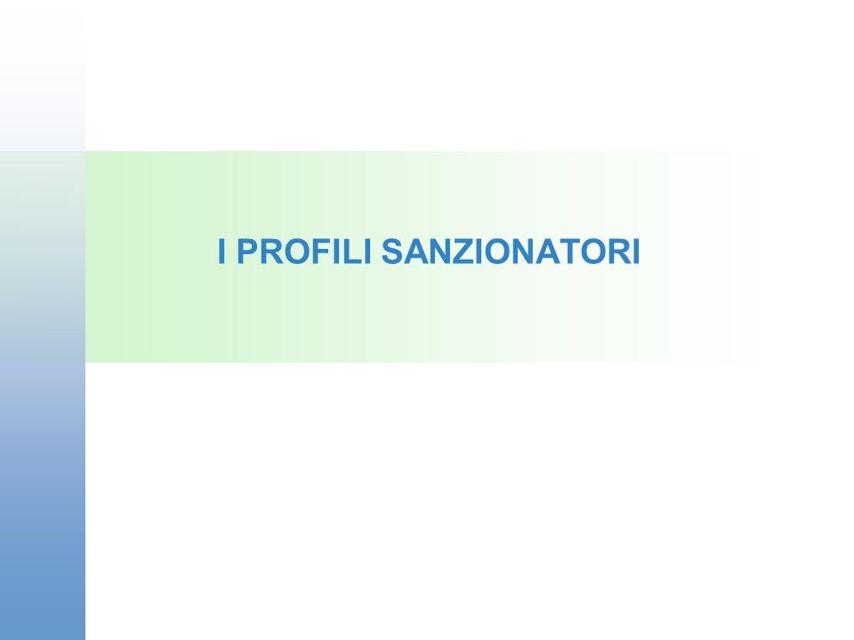 I PROFILI SANZIONATORI