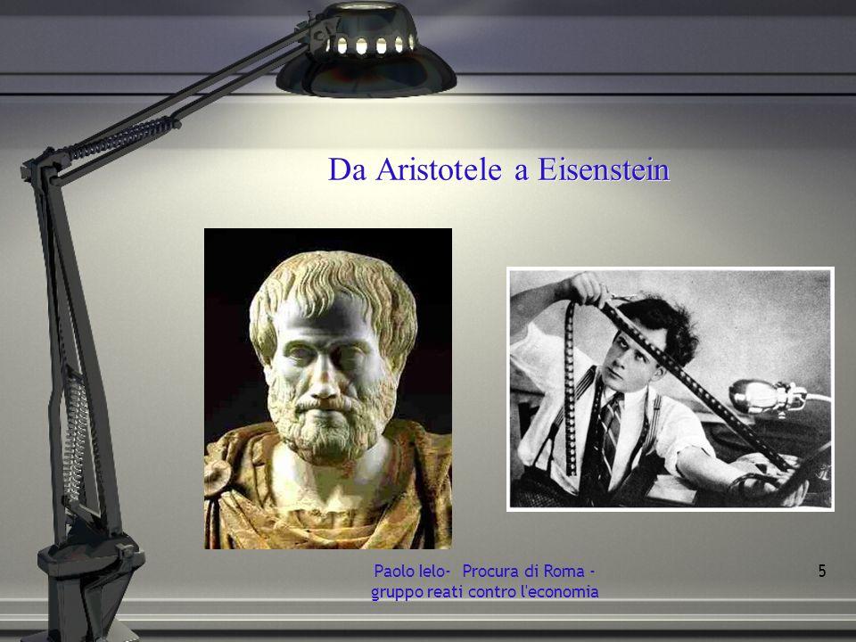 Da Aristotele a Eisenstein Paolo Ielo- Procura di Roma - gruppo reati contro l'economia 5