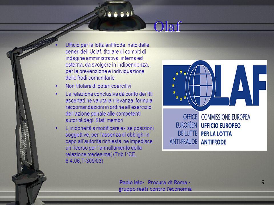Olaf Ufficio per la lotta antifrode, nato dalle ceneri dellUclaf, titolare di compiti di indagine amministrativa, interna ed esterna, da svolgere in i