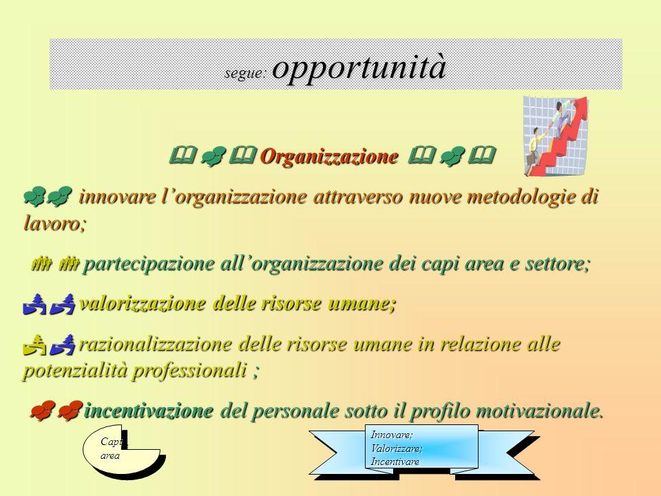 Organizzazione Organizzazione innovare lorganizzazione attraverso nuove metodologie di lavoro; innovare lorganizzazione attraverso nuove metodologie d