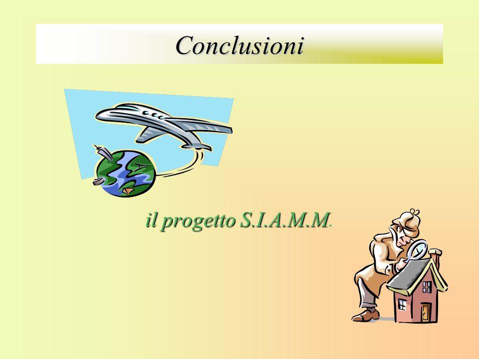 Conclusioni il progetto S.I.A.M.M il progetto S.I.A.M.M.