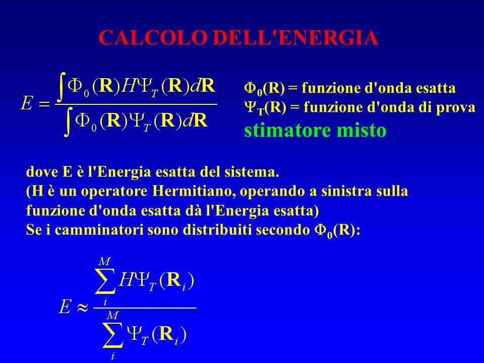 dove E è l'Energia esatta del sistema. (H è un operatore Hermitiano, operando a sinistra sulla funzione d'onda esatta dà l'Energia esatta) Se i cammin