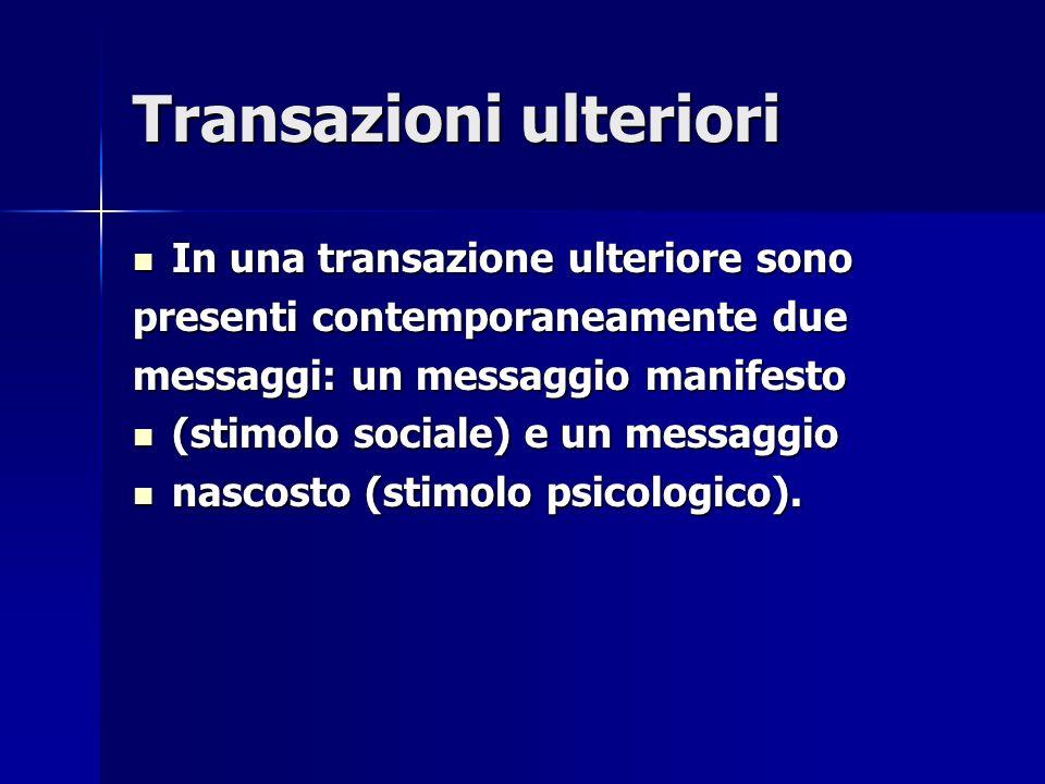 Transazioni ulteriori In una transazione ulteriore sono In una transazione ulteriore sono presenti contemporaneamente due messaggi: un messaggio manif
