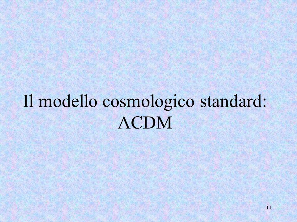 Il modello cosmologico standard: ΛCDM 11