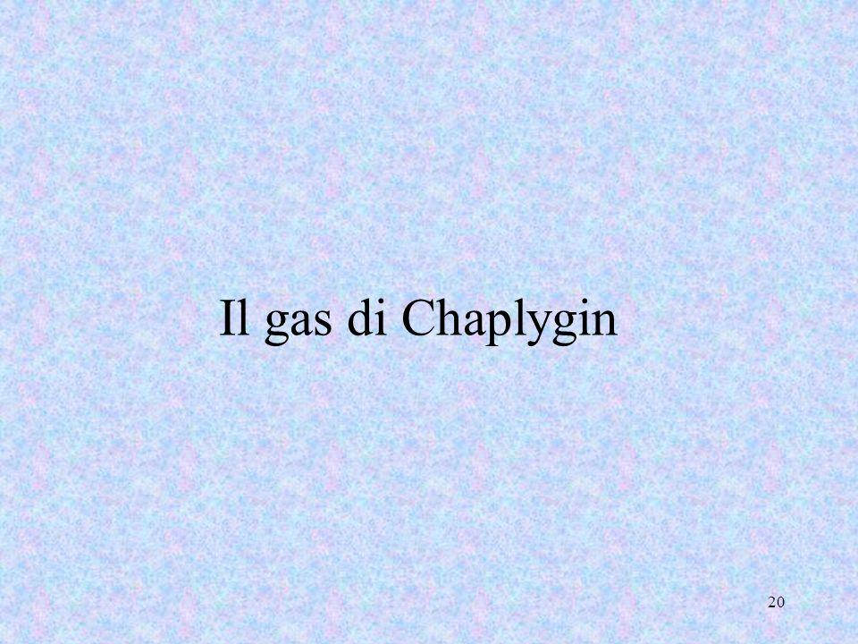 Il gas di Chaplygin 20
