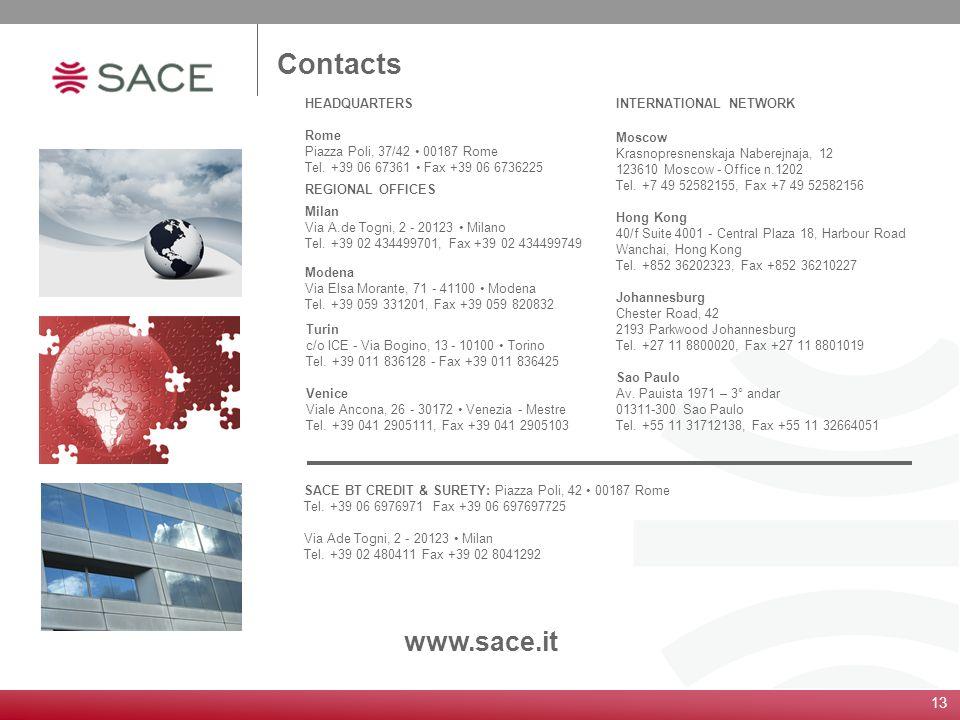 13 Turin c/o ICE - Via Bogino, 13 - 10100 Torino Tel. +39 011 836128 - Fax +39 011 836425 Venice Viale Ancona, 26 - 30172 Venezia - Mestre Tel. +39 04