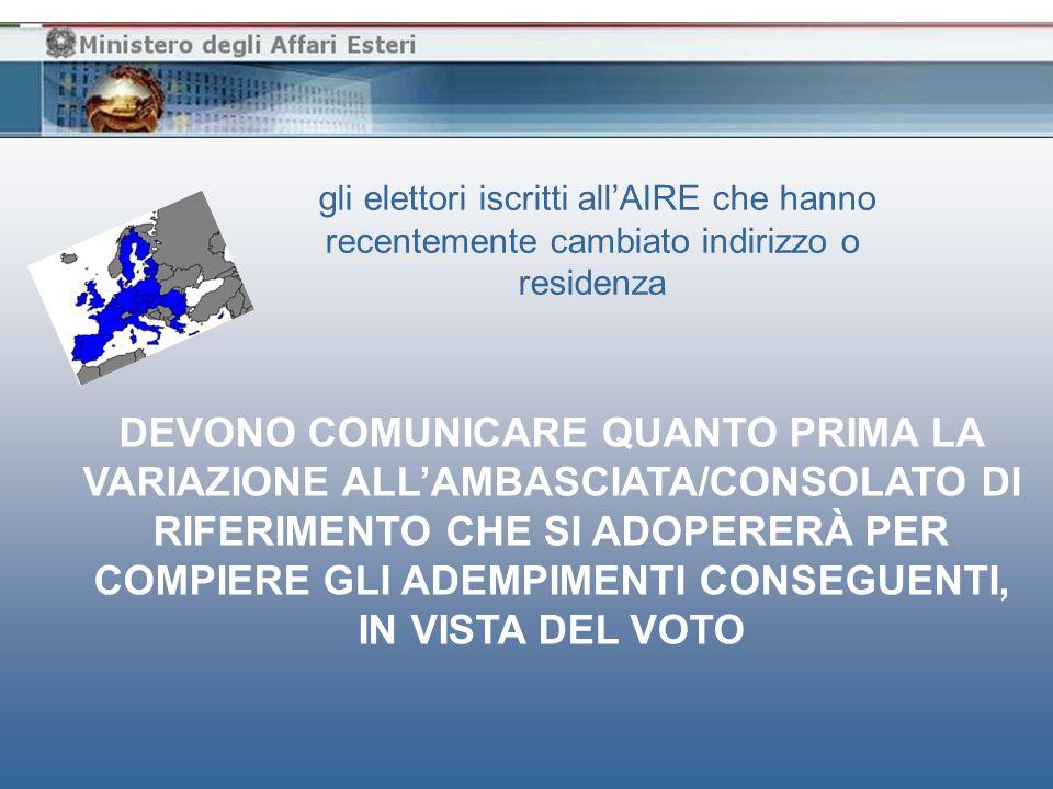 gli elettori iscritti allAIRE, possono anche decidere di votare in Italia nei giorni 6 e 7 giugno 2009 per il rinnovo del Parlamento Europeo IN QUESTO CASO È NECESSARIO COMUNICARE, ENTRO IL 5 GIUGNO 2009, DIRETTAMENTE AL SINDACO DEL COMUNE ITALIANO DI ISCRIZIONE NELLE LISTE ELETTORALI CHE SI INTENDE VOTARE NEL COMUNE STESSO