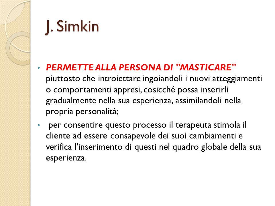 J. Simkin PERMETTE ALLA PERSONA DI