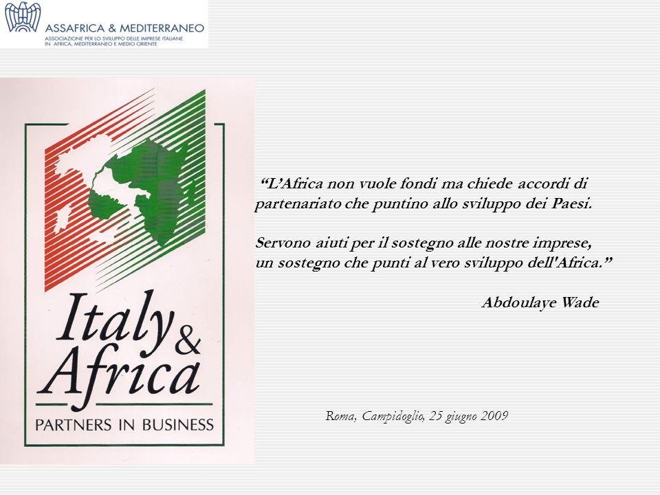 Roma, Campidoglio, 25 giugno 2009 LAfrica non vuole fondi ma chiede accordi di partenariato che puntino allo sviluppo dei Paesi. Servono aiuti per il