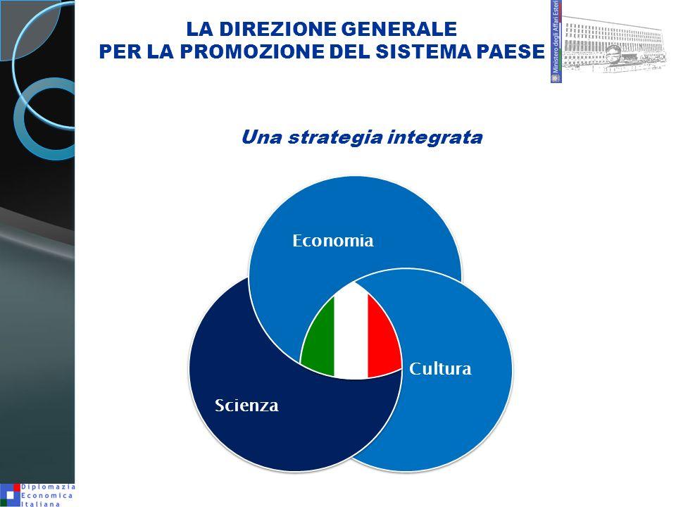Economia Cultura Scienza LA DIREZIONE GENERALE PER LA PROMOZIONE DEL SISTEMA PAESE Una strategia integrata