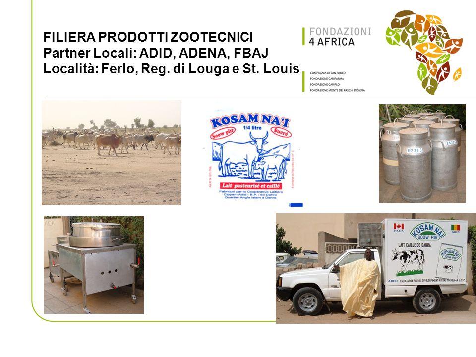 FILIERA PRODOTTI ZOOTECNICI Partner Locali: ADID, ADENA, FBAJ Località: Ferlo, Reg.