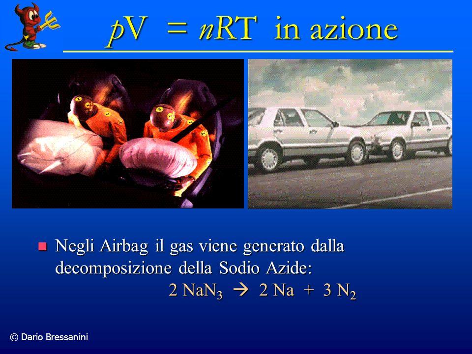 © Dario Bressanini Negli Airbag il gas viene generato dalla decomposizione della Sodio Azide: Negli Airbag il gas viene generato dalla decomposizione