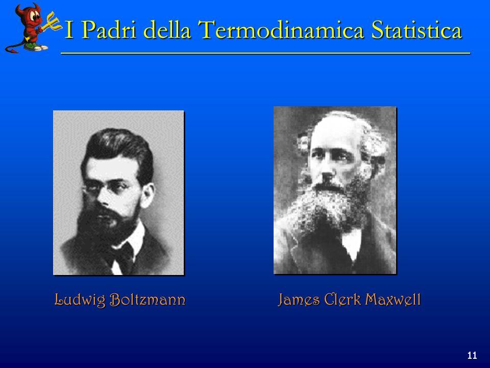 11 I Padri della Termodinamica Statistica Ludwig Boltzmann James Clerk Maxwell