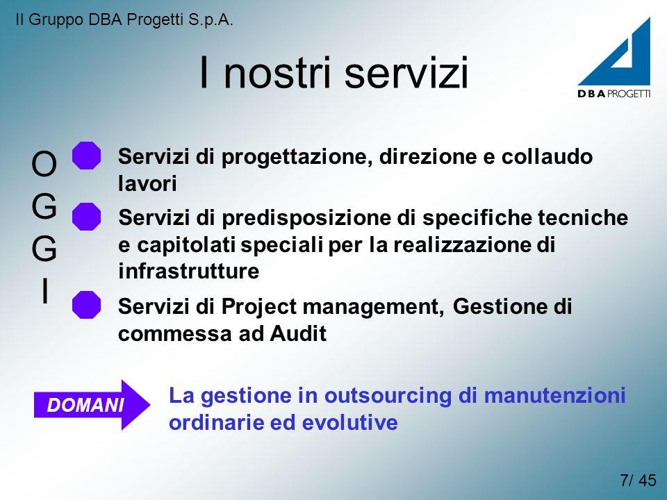 I nostri servizi Servizi di progettazione, direzione e collaudo lavori Servizi di predisposizione di specifiche tecniche e capitolati speciali per la