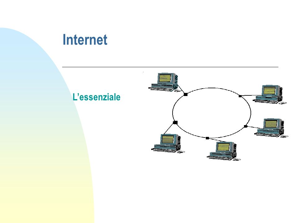 Che cosè Internet.n Internet è una rete formata da reti di computer.