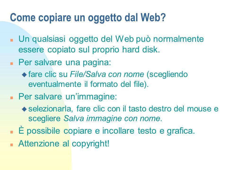 Come copiare un oggetto dal Web.