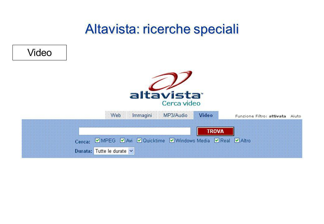 Altavista: ricerche speciali Video