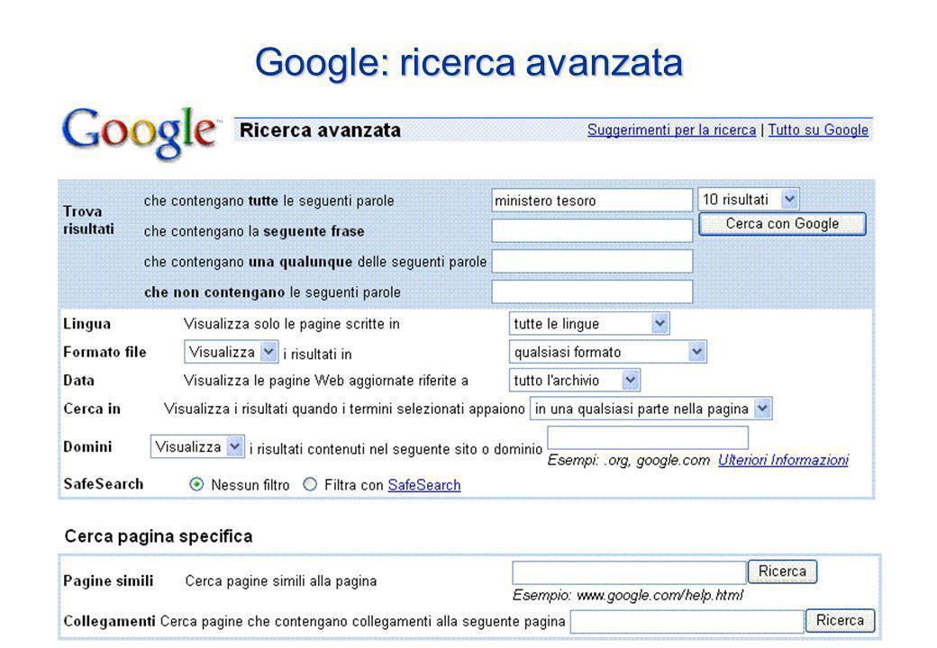 Google: ricerca avanzata