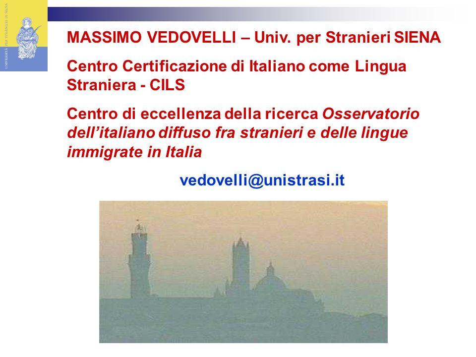 MASSIMO VEDOVELLI – Univ.
