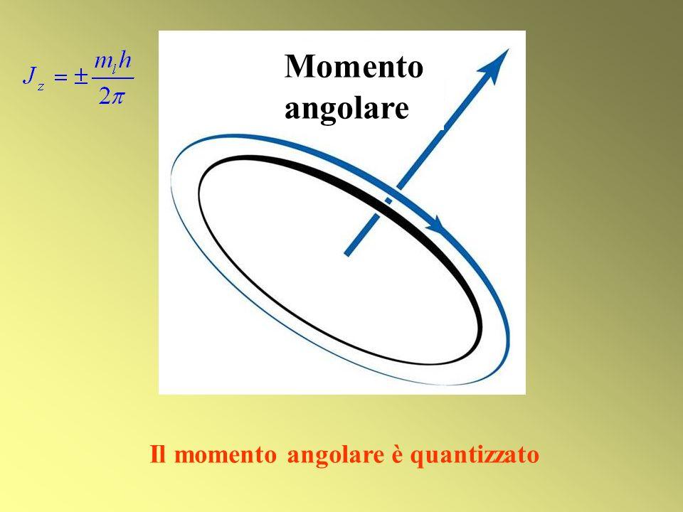 Momento angolare Il momento angolare è quantizzato