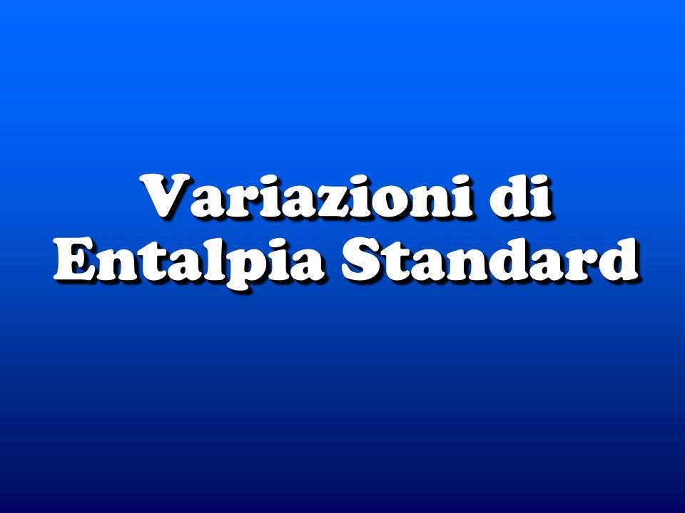 Variazioni di Entalpia Standard