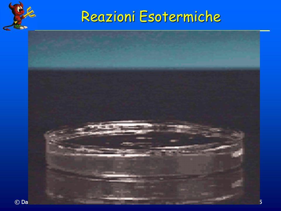 © Dario Bressanini Calcoliamo il r Hº della reazione CaCO 3 (s) CaO(s) + CO 2 (g) H CaCO 3 (s) CaO(s) + CO 2 (g) Ca(s) + C(s) + 3 / 2 O 2 (g) 1207 kJ -636 + -394 kJ 177 kJ Hº = f H°( CaO,s ) + f H°( CO 2,g ) - f H°( CaCO 3,s ) Entalpia Standard di Reazione