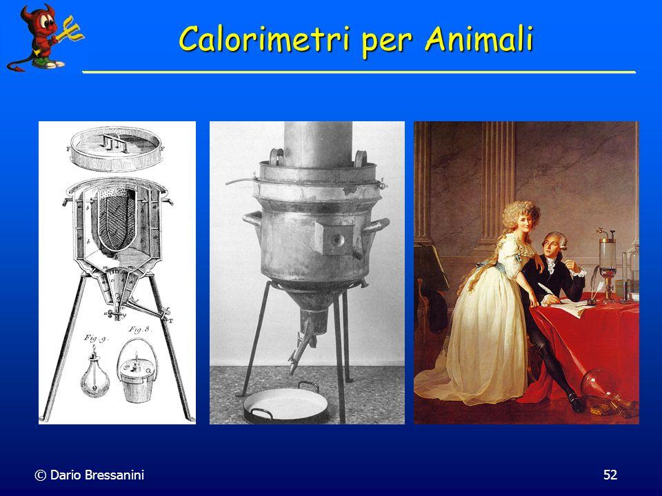 © Dario Bressanini52 Calorimetri per Animali