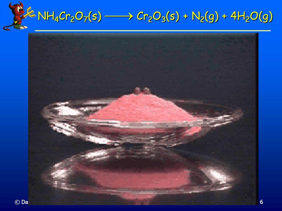 © Dario Bressanini Entalpie di Reazione La variazione di entalpia dipende dalla fase dei reagenti e dei prodotti La variazione di entalpia dipende dalla fase dei reagenti e dei prodotti CH 4 (g) + 2 O 2 (g) CO 2 (g) + 2 H 2 O(l) H= -890 kJ CH 4 (g) + 2 O 2 (g) CO 2 (g) + 2 H 2 O(l) H= -890 kJ H CH 4 (g) + 2 O 2 (g) CO 2 (g) + 2 H 2 O(g) -802 kJ CO 2 (g) + 2 H 2 O(l) H = -890 kJ H = -890 kJ