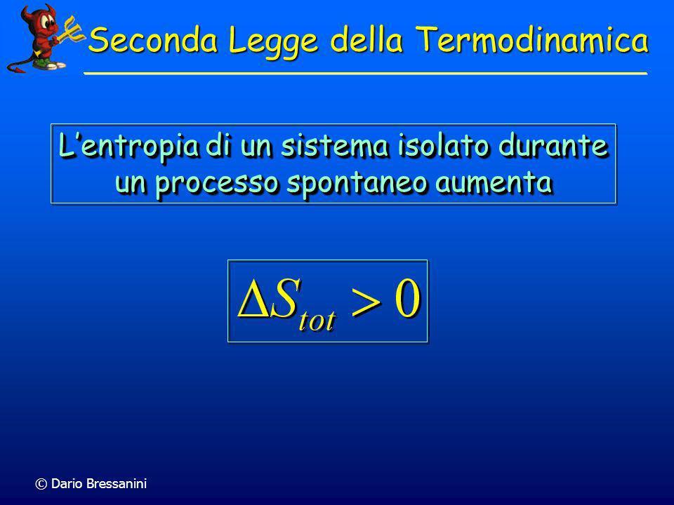 Chimica Fisica EntropiaEntropia Universita degli Studi dellInsubria dario.bressanini@uninsubria.it http://scienze-como.uninsubria.it/bressanini