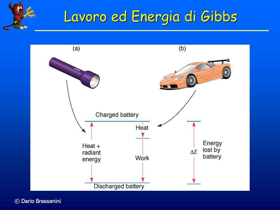 © Dario Bressanini Lavoro ed Energia di Gibbs LEnergia di Gibbs rappresenta il massimo lavoro non di espansione ottenbile da un processo LEnergia di G