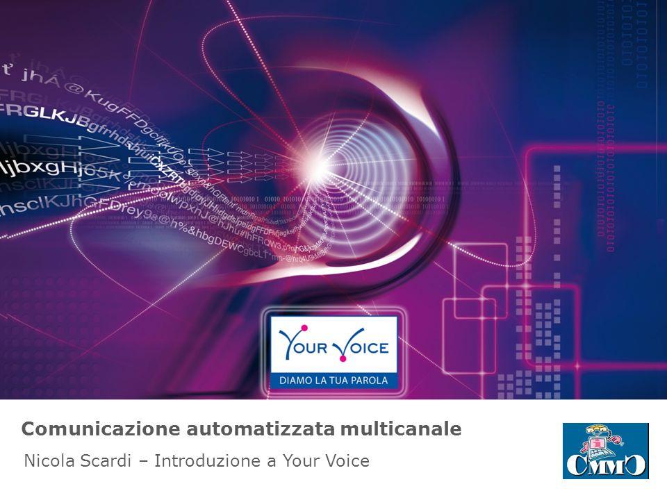 Comunicazione automatizzata multicanale Nicola Scardi – Introduzione a Your Voice
