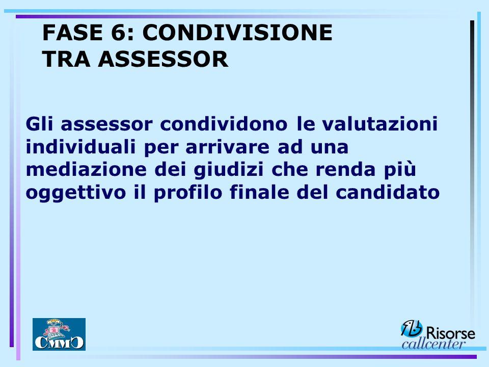 Gli assessor condividono le valutazioni individuali per arrivare ad una mediazione dei giudizi che renda più oggettivo il profilo finale del candidato