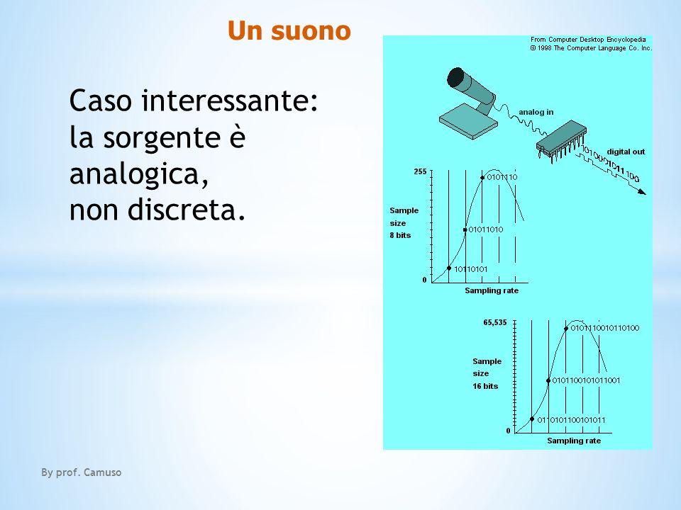 Un suono By prof. Camuso Caso interessante: la sorgente è analogica, non discreta.